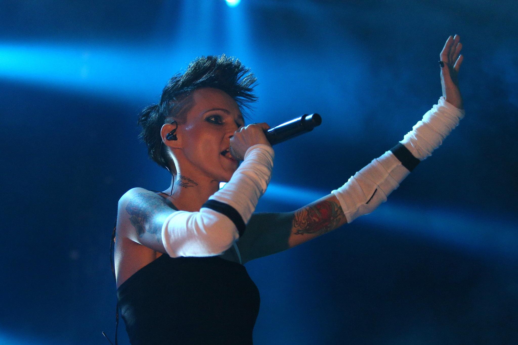 Agnieszka Chylińska na koncercie